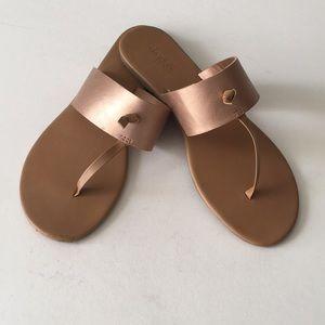 Charlotte Russe Bronze Sandals